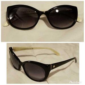 Kate Spade Black Sunglasses (slight bend)